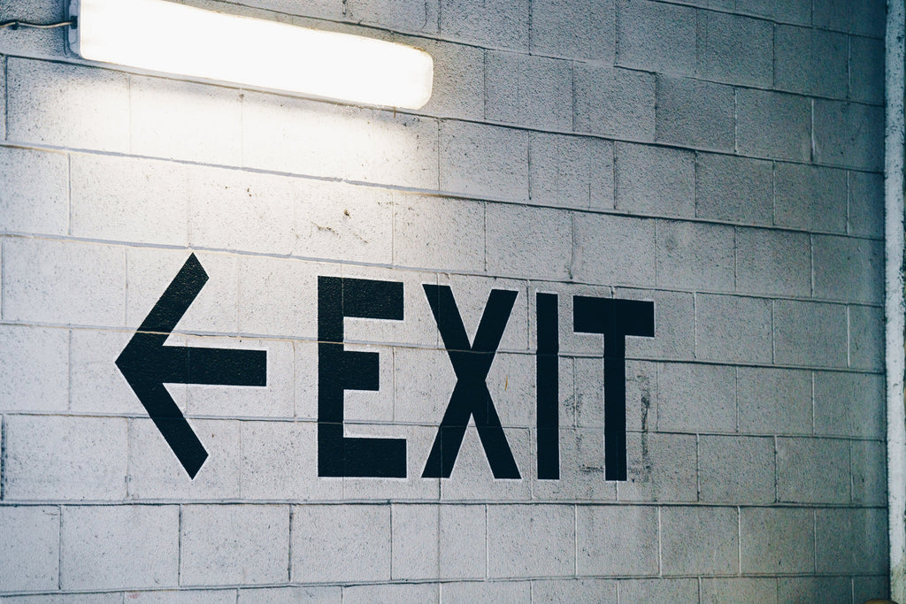Escort Visitors Out the Door with a Neon Exit Sign