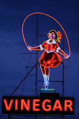 Skipping Girl Neon Sign