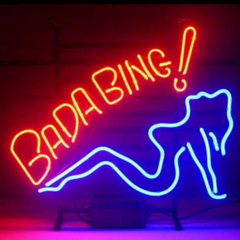 Bada Bing Neon Bar Sign