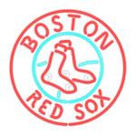 Boston Red Sox Neon Sign Glass
