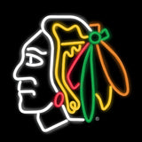 Chicago Blackhawks Hockey Neon Sign