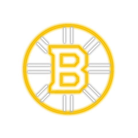 Boston Bruins Neon Sign Glass