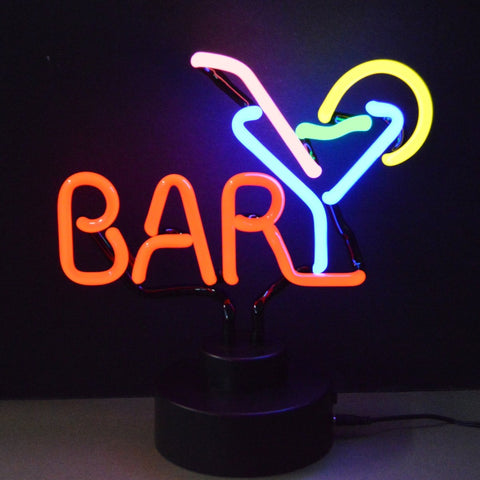 Bar Neon Light Sign Sculpture