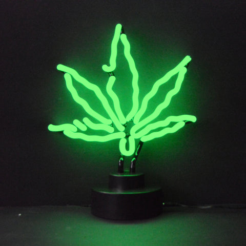 Marijuana Pot Leaf Neon Light Sign Sculpture