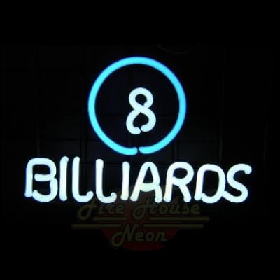 8 Ball Billiards Neon Light Sign Sculpture - Neon Sculptures