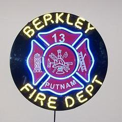 Personalized Fire Fighter Maltese Cross Neon Sign