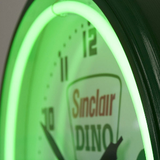 Dino Neon Clock Closeup