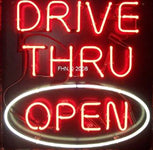 Large Drive Thru Open Neon Sign