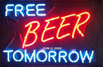 Free beer tomorrow neon sign