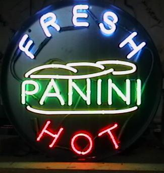 Fresh Hot Panini Neon Sign Round