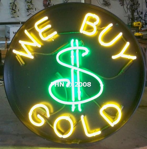 We buy gold neon sign for pawn shop