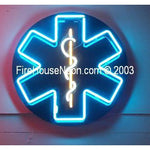 EMS Fire Fighter Emergency Star of Life Neon Sign