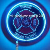 Personalized Maltese Cross Fire Fighter Neon Ring Sign