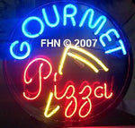 Gourmet Pizza Neon Sign Round
