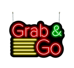 Grab and Go Neon Sign