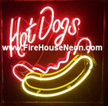 Hot Dogs Franks Wieners Neon Sign
