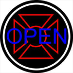 Iron Cross Neon Open Round
