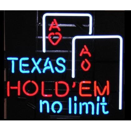 Texas Hold Em Poker Neon Sign