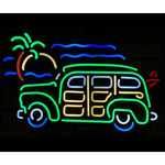 Woody wagon neon bar sign