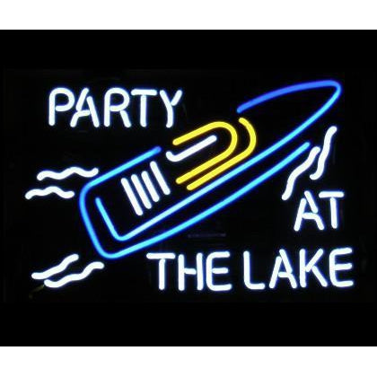 Party at the Lake Neon Bar Sign