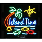 Island time neon bar sign light