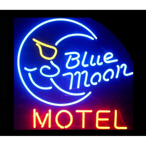 Blue Moon Motel Neon Light Sign