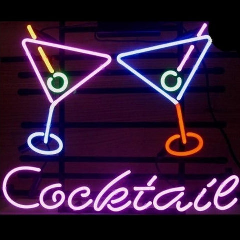 Cocktail Martini Bar Neon Sign