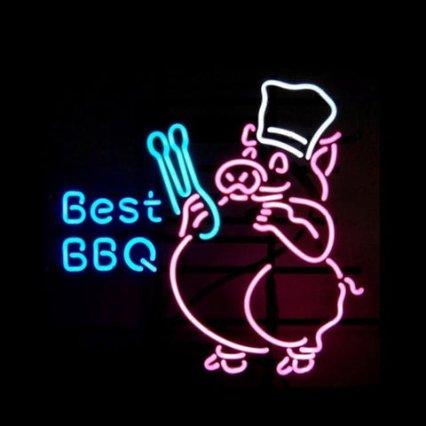Best BBQ Pig Neon Neon Sign Light