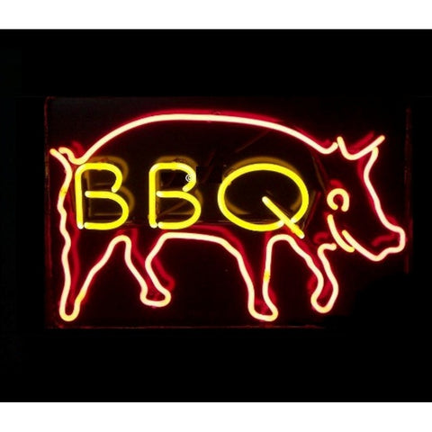 BBQ Pig Neon Neon Sign Light-Business Neon Signs-Fire House Neon Signs