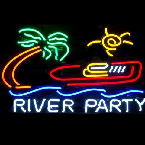River Party Neon Sign