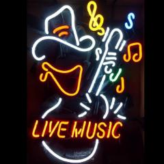 Cowboy Live Music Neon Bar Sign