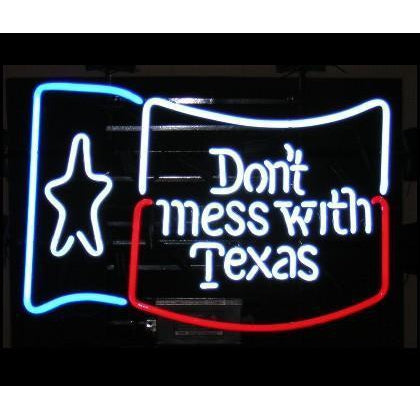 Don't Mess with Texas Neon Sign