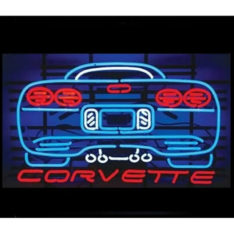 Corvette Back View Neon Sign