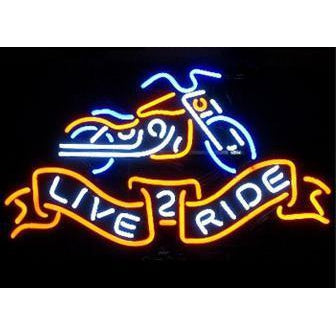 Live to Ride II Neon Sign-Bar Neon Signs-Fire House Neon Signs