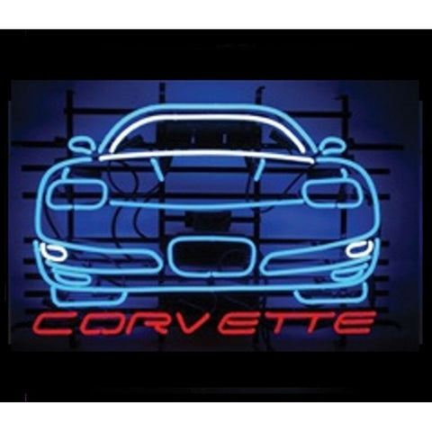 Corvette Neon Sign Front View