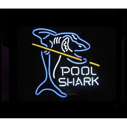 Pool Shark Billiards Neon Bar Sign