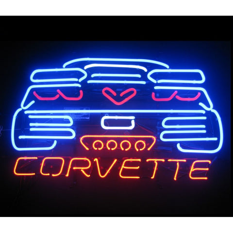 C7 Corvette Neon Sign Back View