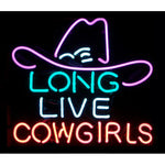 Long Live Cowgirls Neon Bar Sign
