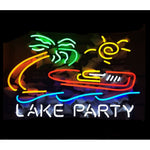 Lake Party Neon Bar Sign