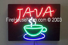 Java Coffee Neon Sign
