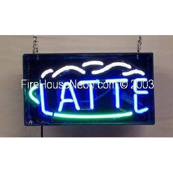 Latte Coffee Neon Sign