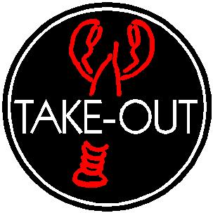 Take out Neon Sign Lobster