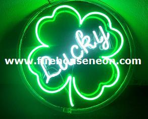 Lucky 4 Leaf Clover Neon Sign
