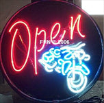 Motorcycle Neon Open Sign