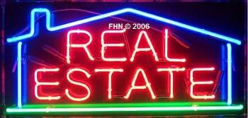 Real Estate Neon Sign with House