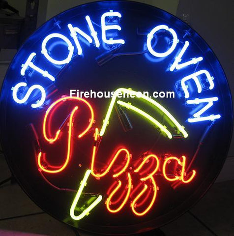 Stone Oven Pizza Neon Sign