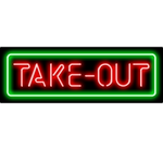 Take Out Neon Sign Red Green