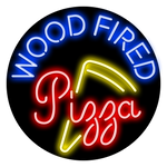 Wood Fired Pizza Neon Sign