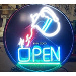 A Coffee Neon Open Sign With Coffee Pot - Coffee Neon Signs