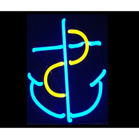 Boat Anchor Neon Sculpture